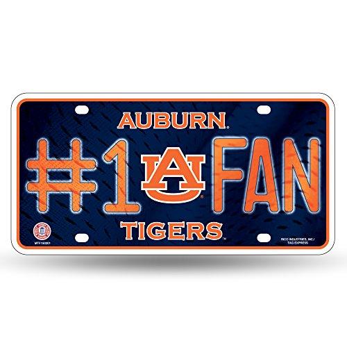 NCAA Auburn Tigers #1 Fan Metal License Plate ()