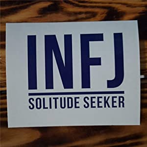 INFJ Decal Myers Briggs Personality Decal - Vinyl Laptop Sticker- Introvert - MacBook Decal - MBTI Decal Stickers Car Decal Window Decal Vinyl Decal Die Cut Decals Funny Laptop Stickers Bumper Stick