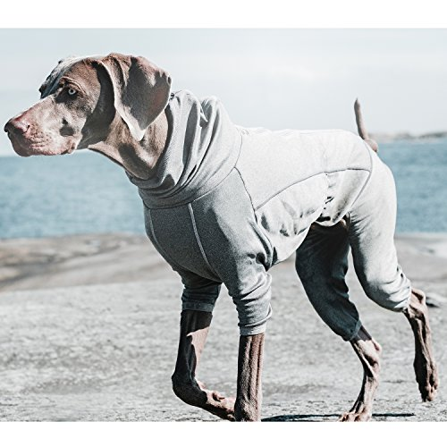 Image of Hurtta Body Warmer Dog Body Suit, Recovery Suit, Carbon Grey, 20M
