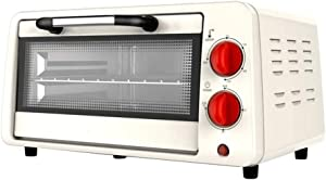 ZOUSHUAIDEDIAN Electric Oven, Mini Toaster Oven Cooker for Bread, Bagels, Cookies, Pizza, Paninis & More with Baking Tray, Auto Shut Off Feature, White