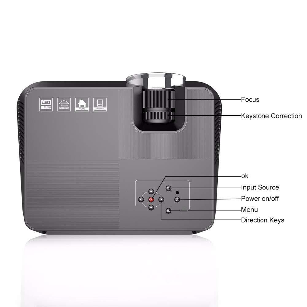 TOOGOO GT-S8 800X480 Proyector LCD Multimedia Portátil con Hdmi ...