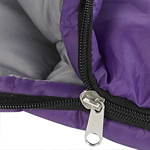 Wenzel Girls' 40 Degree Insulated Thermal Sleeping Bag, Purple, 66 x 26-inches