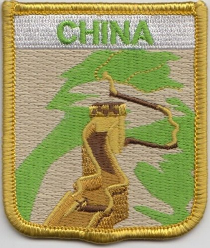 (China Great Wall Flag Embroidered Patch)