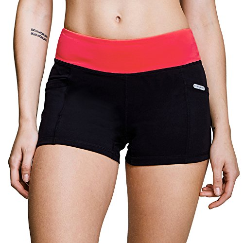Matymats Women's Workout Running Shorts Tummy Control Active Yoga Shorts Big Side Pockets