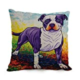 MaSoyy The Dog Art cushion covers of ,18 x 18 inches / 45 by 45 cm decoration,gift for monther,boy friend,pub,chair,coffee house,her (twin sides)