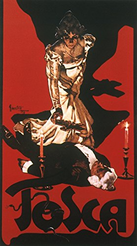 Puccini Tosca Poster 1900 Nposter By Hohenstein For The First Production Of PucciniS Opera Tosca 1900 Poster Print by (18 x 24)