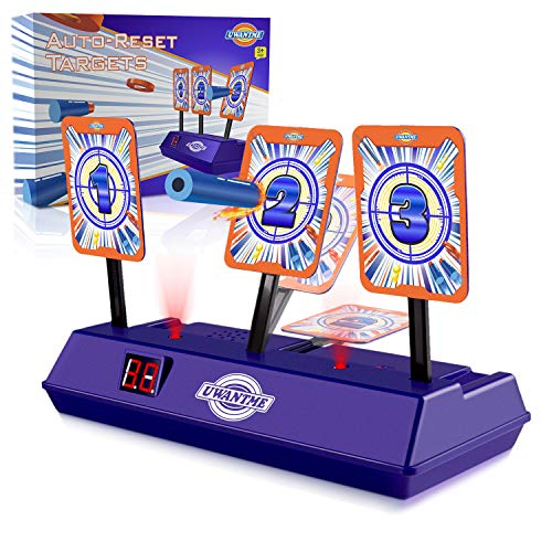 UWANTME Electric Scoring Auto Reset Shooting Digital Target for Nerf Guns Blaster