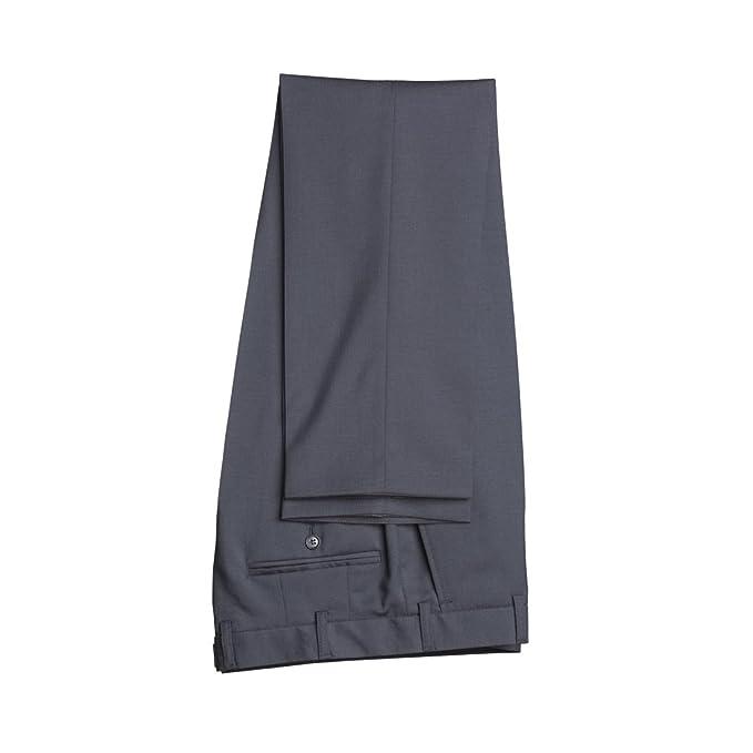atelier torino - Pantaloni da abito - con pinces - Uomo Marineblau 59   Amazon.it  Abbigliamento 06a560ebecc