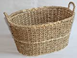 WB250002M: SEAGRASS STORAGE BASKET WITH HANDLES