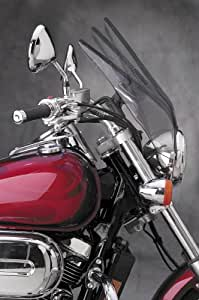National Cycle Deflector Clear Screen with 7/8in. and 1in. U-Clamps for Harley - One Size