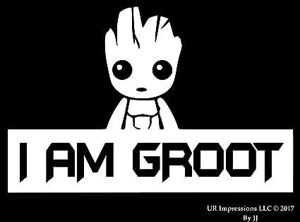 "I Am Groot Adhesive Vinyl Decal Sticker Car Truck Window Bumper Laptop 9/"""