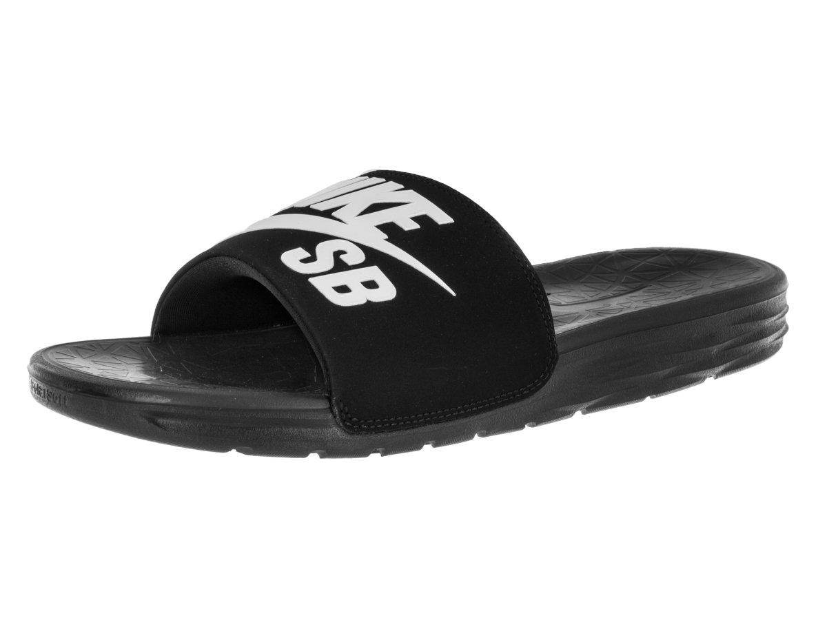 137c131ffa38 Galleon - Nike Mens Benassi Solarsoft Sandals SB Sandal Black White 11