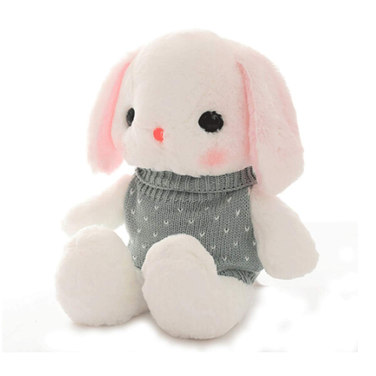 Light green sweater 50cm Light green sweater 50cm Xionghaizi Plush Toys, Small White Rabbit Plush Toys, Rabbit Dolls, Rogue Rabbit Sleeping Pillows, Rag Dolls, Boys and Girls Birthday Gifts, Multiple colors and Sizes, BES