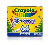Baby : Crayola Pip-Squeaks Skinnies Washable Markers, 64 count, Great for Home or School, Perfect Art Tools