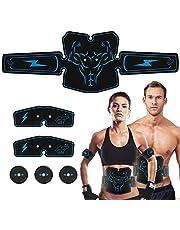 Haofy EMS Bauchmuskeltrainer Muskelstimulator, USB Wiederaufladbar Abs Trainingsgerät für Arm Bauch Beine Bizeps Trizeps, Elektrostimulatorenr 6 Modi zur Muskelaufbau Fettverbrennung-EMS Hüfttrainer