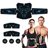 Haofy ABS Stimulator Abdominal Muscle Toner Trainer, USB Rechargeable 6 Modes & 10