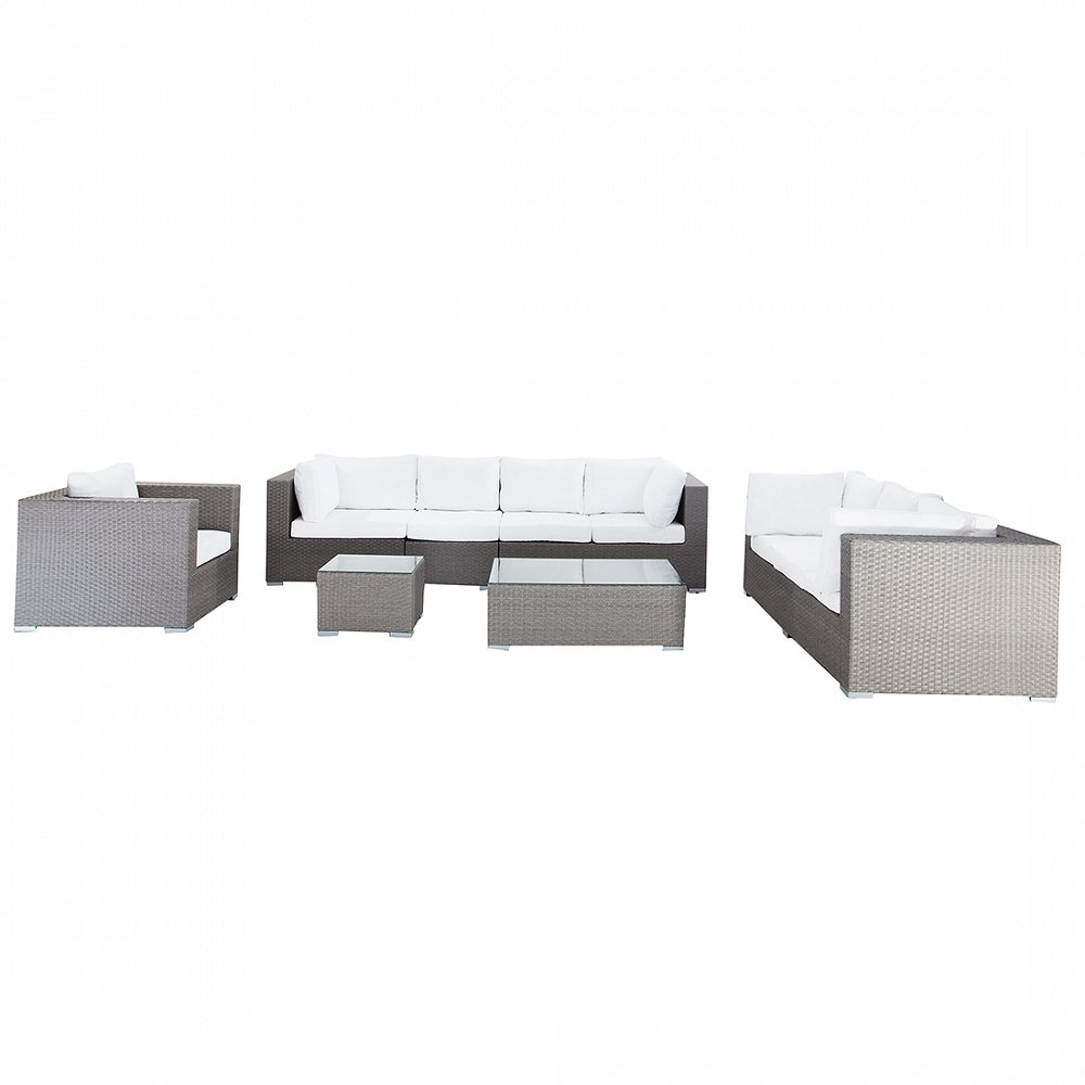 gartenm bel grau rattan lounge sitzgruppe gartenset. Black Bedroom Furniture Sets. Home Design Ideas