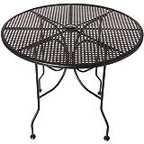 "Oak Street Manufacturing OD36R Round Black Mesh Top Outdoor Table, 36"" Diameter"