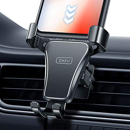INIU Car Phone Holder, Auto Lock Air Vent Mobile Phone Holder for Car, 360° Universal Car Phone Mount GPS For iPhone 12 11 Pro X 8 Plus Samsung Galaxy S20 S10 S9 Xiaomi Huawei Google Oneplus lg etc