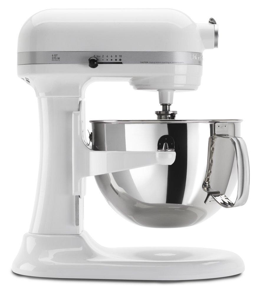 KitchenAid RKP26M1XWH 6 Quart Professional 600 Series Stand Mixer (Renewed)
