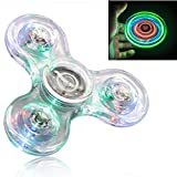 Diameter:3.1inches(7.8cm) thickness:0.3inches(0.8cm)instruction hold spinner in one hand and use the other hand to spin it rapidly using small continuous strikes to keep it spinning indefinitely with practice spinners can be spin using only one finge...