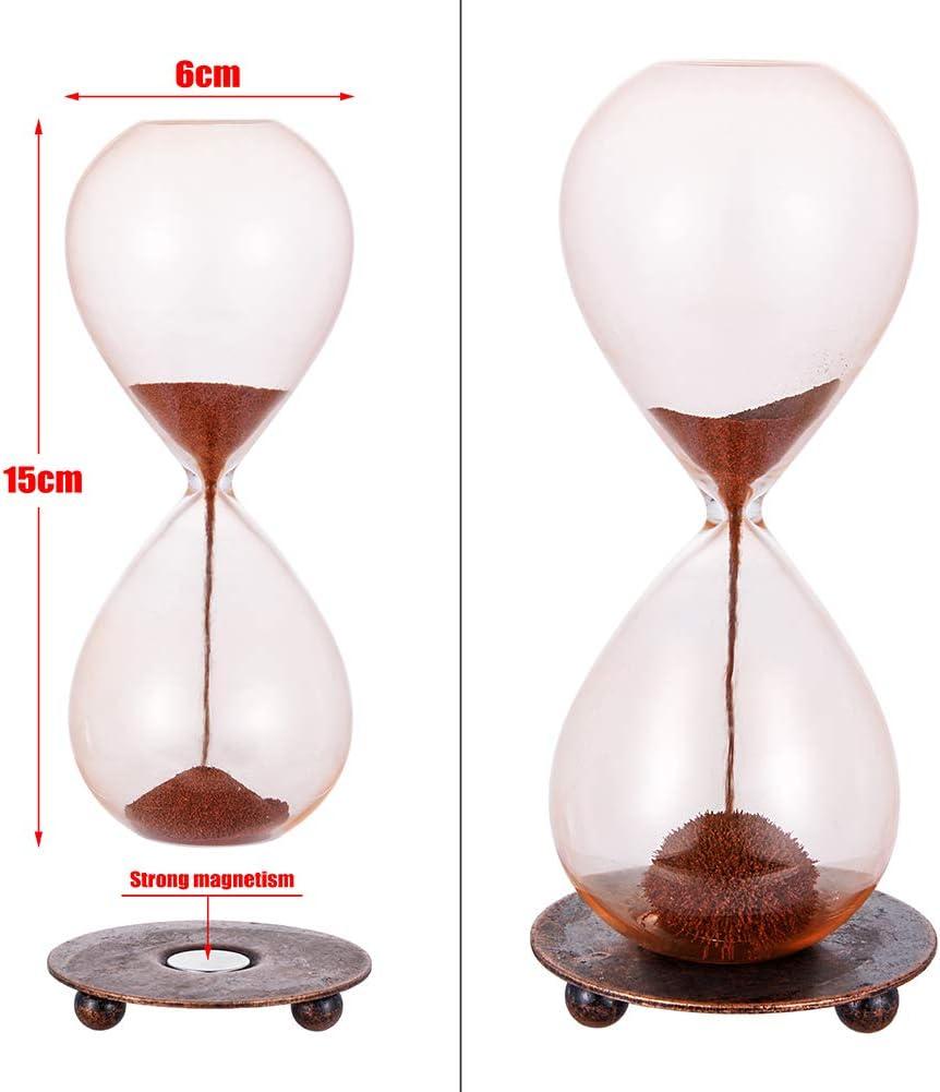 Weiye Sablier magn/étique en verre souffl/é /à la main