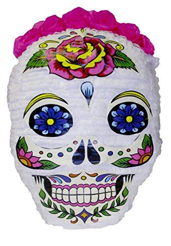 [Pinatas Day of The Dead Skull Halloween Pinata, Decoration and Party Game, White] (Monster High Dia De Los Muertos)