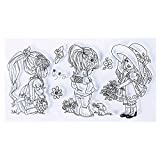 TR.OD Transparent Rubber Stamp Seal DIY Craft Scrapbooking Decoration Little Girl