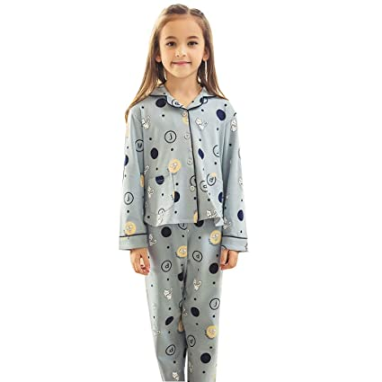 697a72f517 Image Unavailable. Image not available for. Color  Pajama Girls Cotton Girls  Spring and Autumn Long Sleeves in Home ...