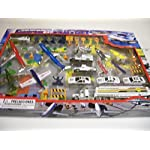 Lucky Stars 366927 Diecast Airport Set with Stage Map, Multicolor