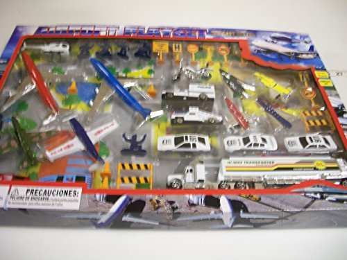 Lucky Stars 366927 Diecast Airport Set with Stage Map, Multicolor ()