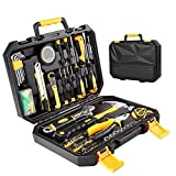 Tool Kit. Best Portable Big Basic Starter Professional Household DIY Hand Mixed Repair Set W/Storage Toolbox For Home, Garage, Office For Men, Women. Includes Screwdriver, Wrench, Pliers, Etc.
