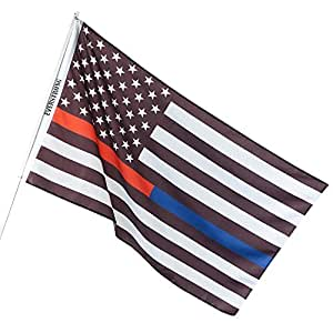 Amazon.com: Thin Blue Line USA American Police Flag ...
