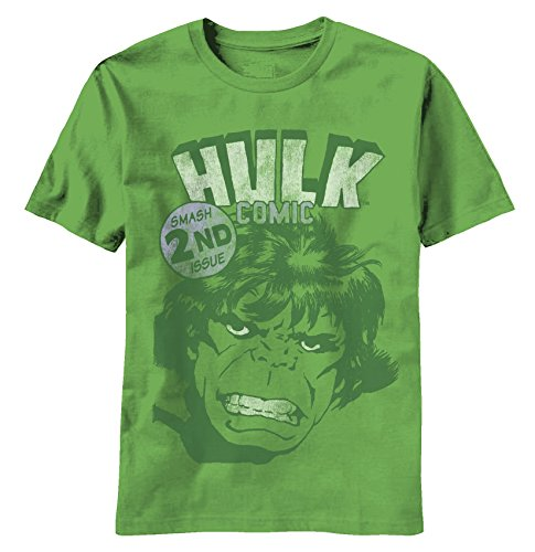 Smash Second Issue - Marvel Comics Sheer T-shirt: Adult 2XL - Kelly Green