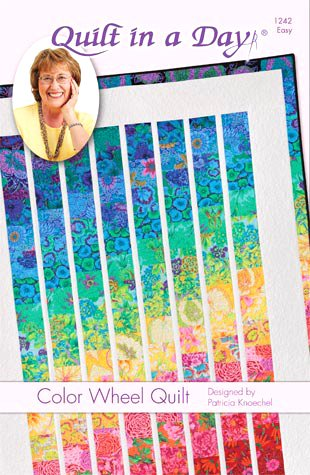 Quilt In A Day Color Wheel Quilt: Eleanor Burns Signature Pattern by