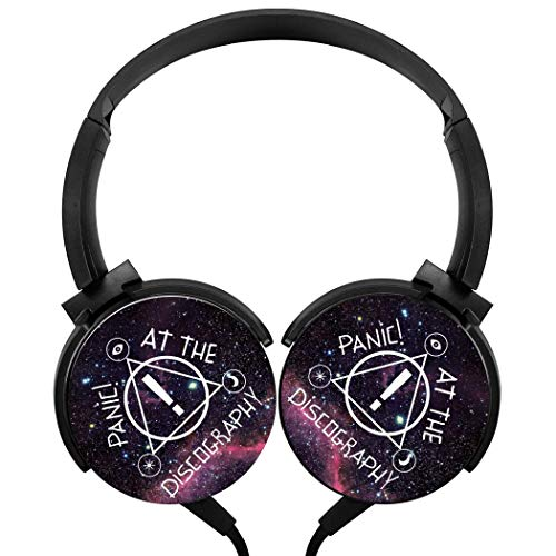 YRBZ Panic at The Disco Logo Heavy bass Stereo Headset Multifunction Headphone with Microphone Handy Wired headsets (Panic At The Disco Sound Of Music)