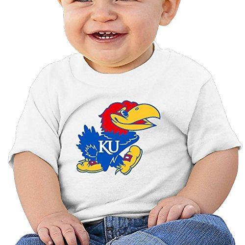- GUC Baby's T-shirt - University Of Kansas Jayhawk Logo White