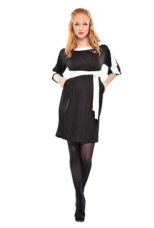 434b3bc4f4e19 Olian Maternity Women's White Trim Lucia Dress Sz X-Small Black at ...