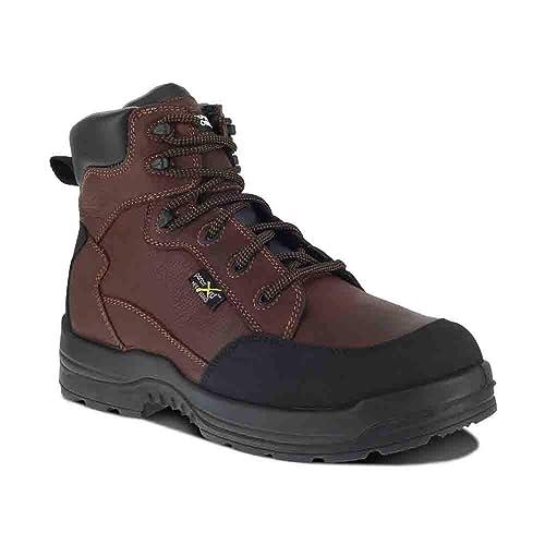 ae849f91c7c Rockport Works More Energy Women's Composite Toe Waterproof Work Boot Brown