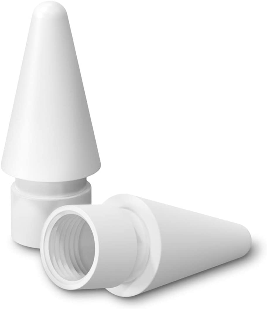 Replacement Tip for Apple Pencil, ZHIKE Sensitive Stylus Pencil Pen Tips Compatible for iPad Pro Pencil 1st/Pencil 2 (White, 2 Packs)