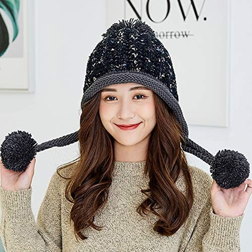 ELEOPTION Women Winter Cable Trendy Warm Oversized Chunky Baggy Stretchy Slouchy Skully Beanie Hat