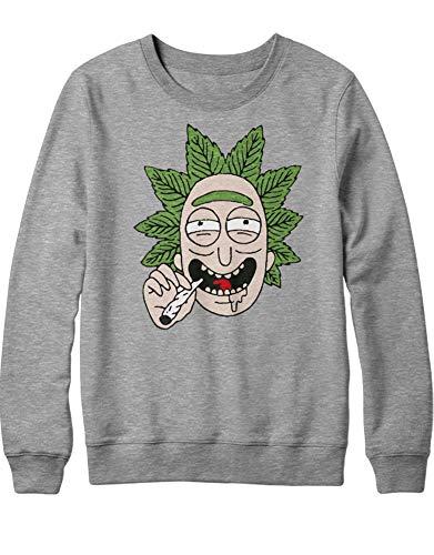 Homme Hypshrt Weed Sweatshirt Gris C000396 Rick UdWqqxZYwz