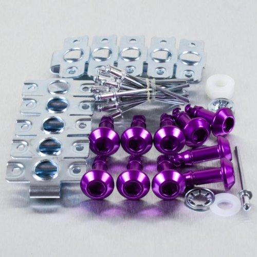 Aluminium Quick Release/Clip 6 Allen Key 24mm Pack x 10 Purple