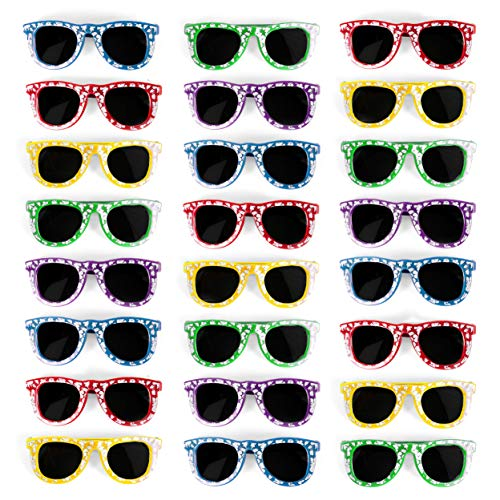 Bulk Kids Hibiscus Sunglasses Party Favors - Favorite Luau Party and Pool Party Favors- Bulk Party Set of 25 ()