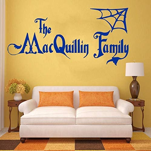 Amazon Com Liubeiniubi Personalised Halloween Family Name Addams Family Vinyl Wall Art Sticker Decal Mural Home Wall Decor Living Room Decor 42x88cm Kitchen Dining