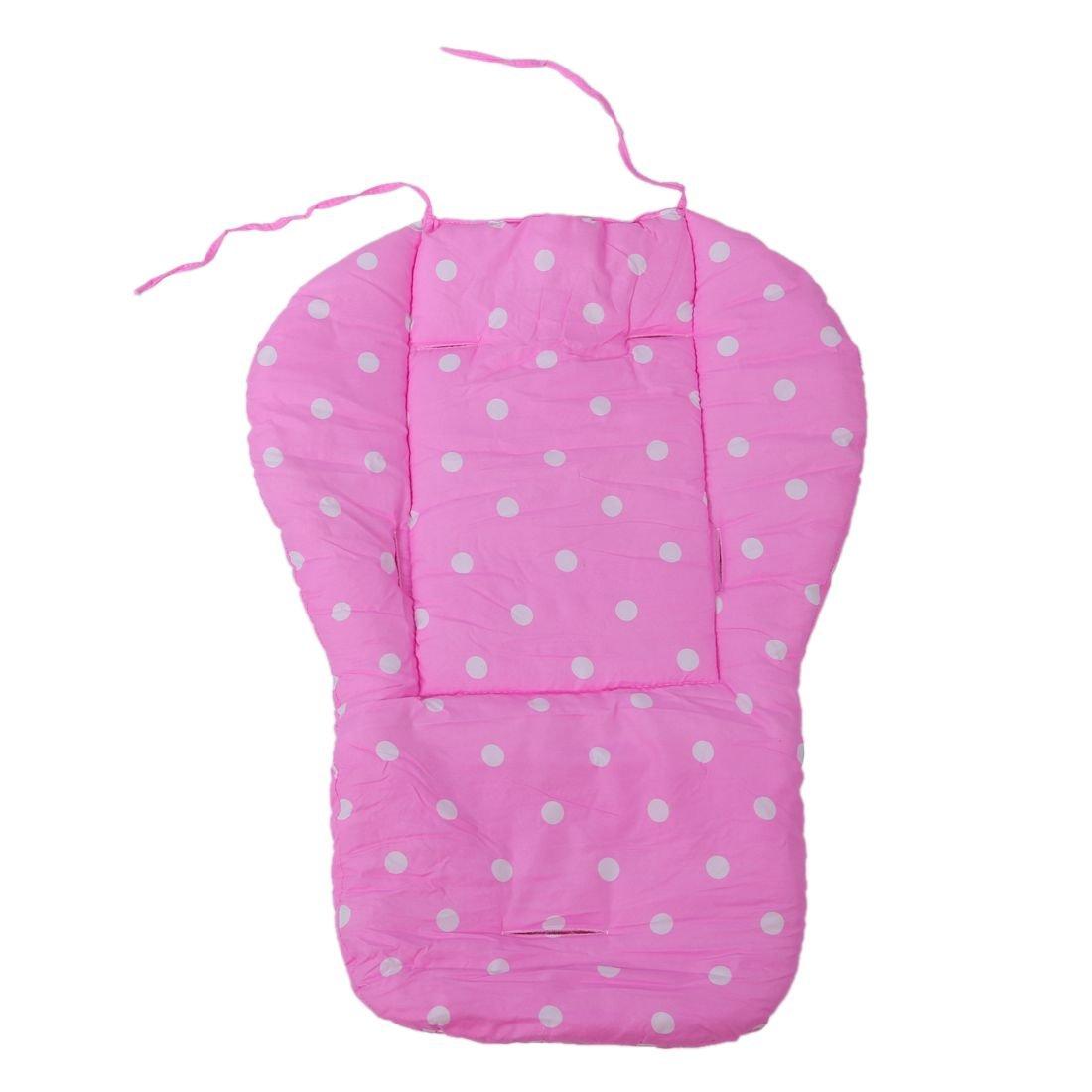 SODIAL R cojin de asiento de carrito de nino Funda de algodon almohada de asiento de grueso de cochecito infantil de bebe azul