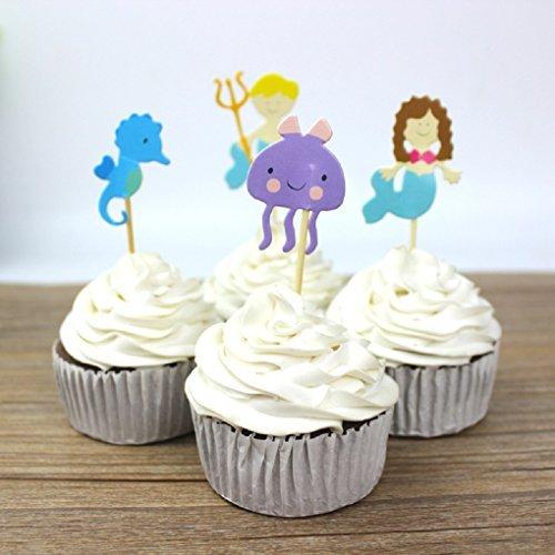 24 adornos para cupcakes con diseño de margarita