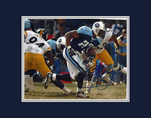 Eddie George Autographed Tennessee Titans 8x10 Photograph with Mat - Certified Authentic - Autographed Photos