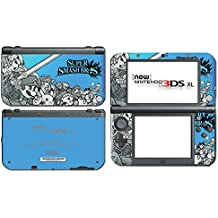 Super Smash Bros 3D Melee Brawl Mario Pikachu Link Zelda Samus Metroid Pit Sapphire Blue Video Game Vinyl Decal Skin Sticker Cover for the New Nintendo 3DS XL System Console