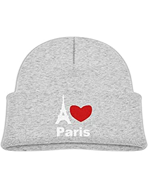 Cute I Love Paris Printed Toddlers Baby Winter Hat Beanie